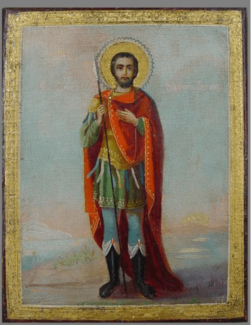 The Icon Of St. Fedor Stratilat the end of the XIX-th century - photo 1