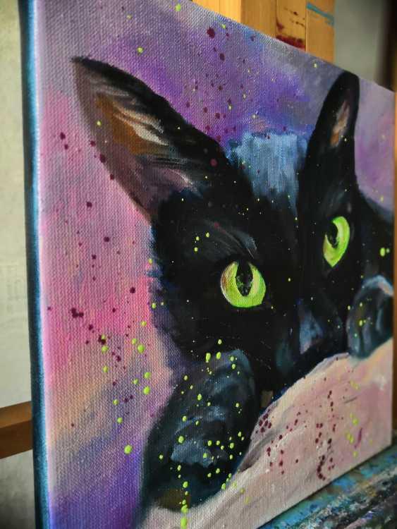 Ludmila Riabkova. Green eyes, cat painting - photo 2