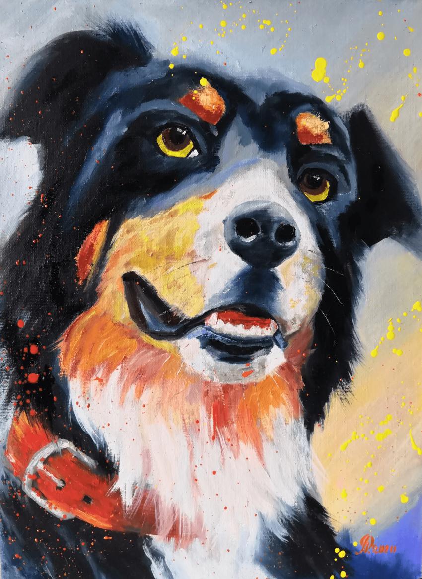 Ludmila Riabkova. Mr. Senennhund, dog art - photo 1