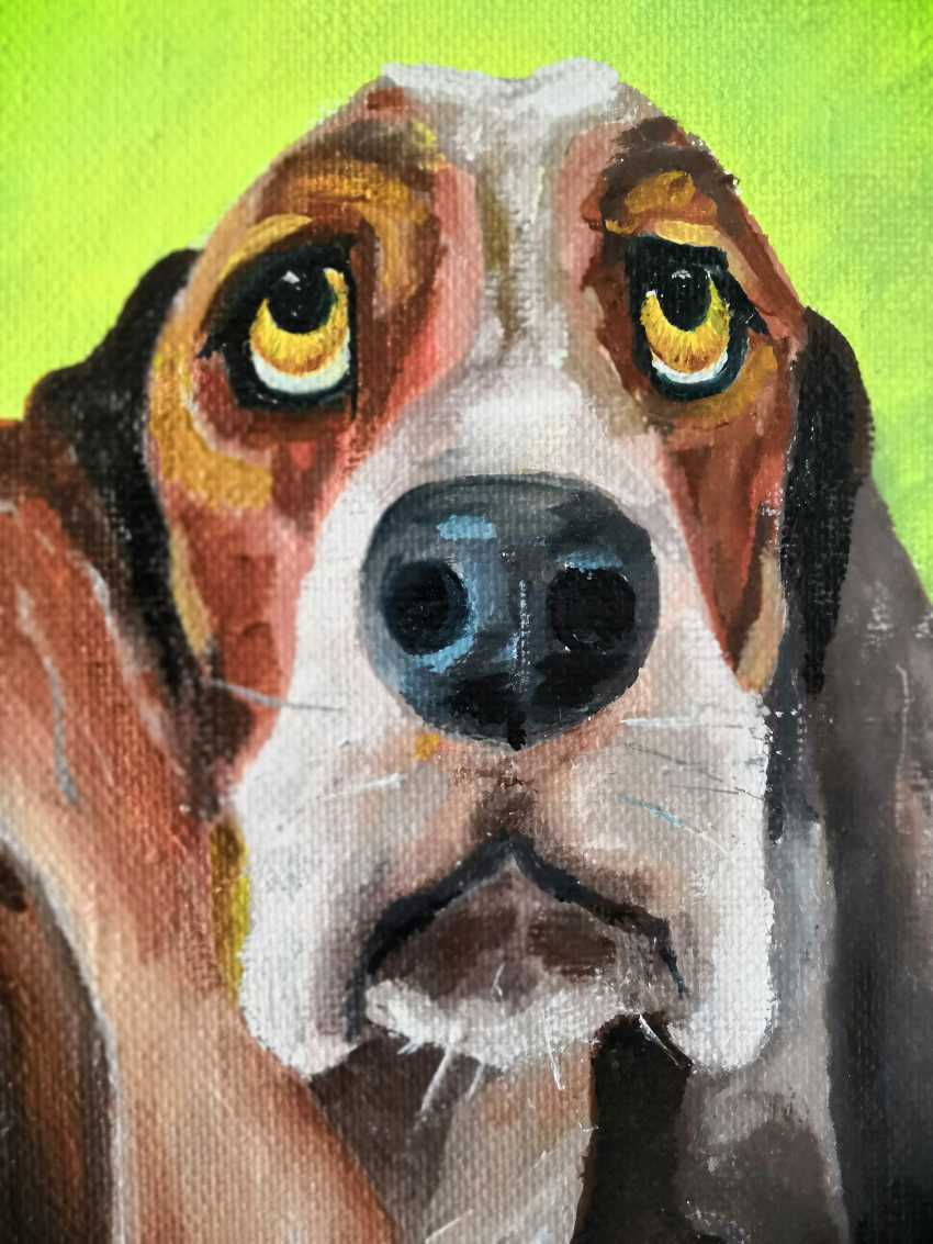 Ludmila Riabkova. Dog Basset hound, dog art - photo 1