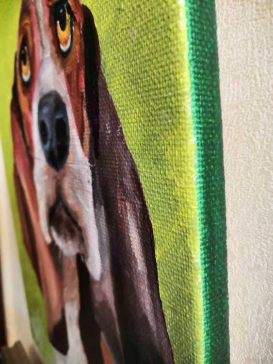 Ludmila Riabkova. Dog Basset hound, dog art - photo 2