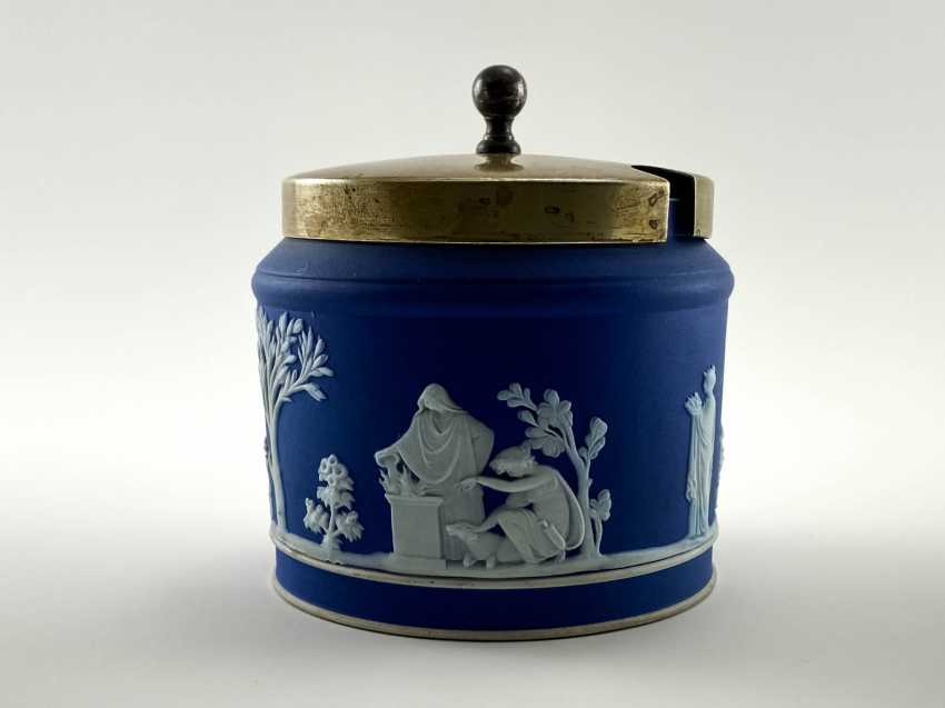"""Sugar Bowl Wedgwood """"Furniss & Sons"""". Neo-classicism, England, biscuit porcelain. 1908 - 1929. - photo 1"""