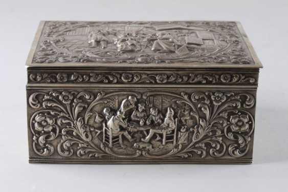 Box for cigarettes. Silver 833 samples - photo 1