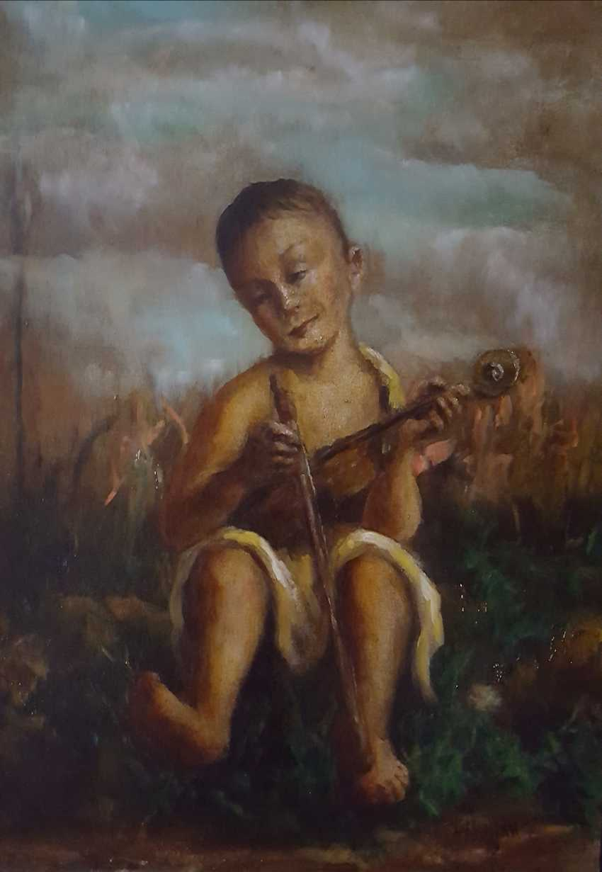 Yrij Kavkazskij. The boy with the violin - photo 1