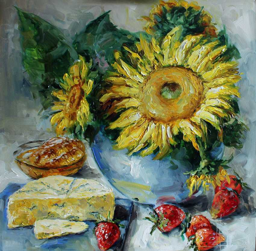 "Marina Kozlovska. ""Strawberries and sunflowers"" - photo 1"