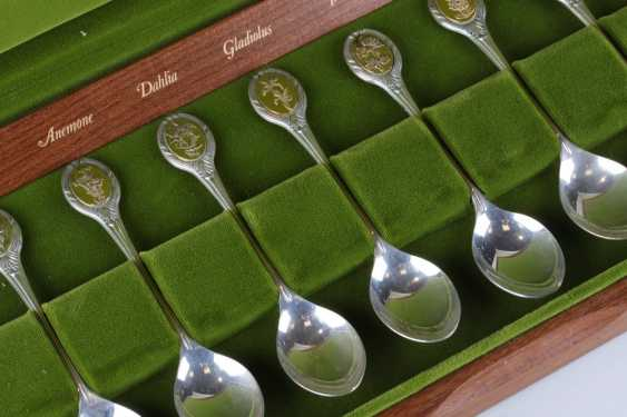 A set of teaspoons for 12 persons, 925 hallmark. - photo 2