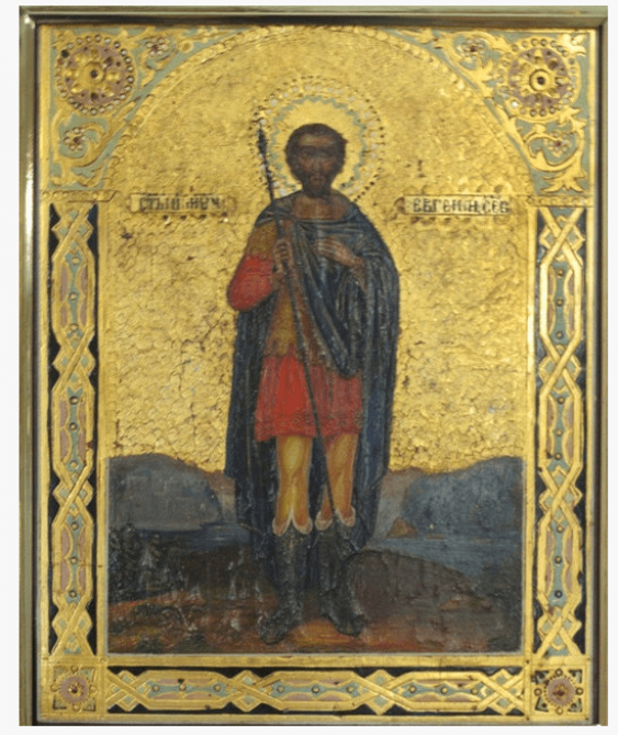 The Icon Of St. Martyr Eugene of the XIX century - photo 1