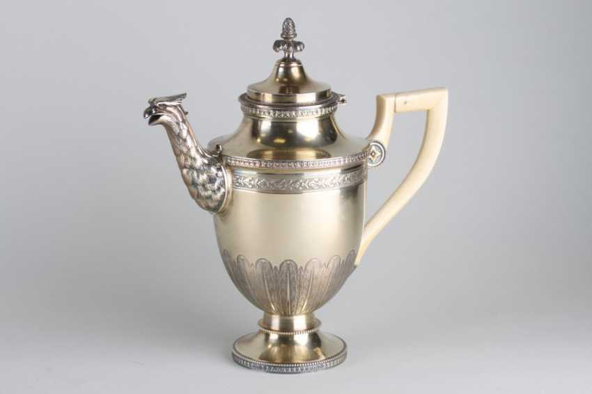 An Empire coffee pot with bone handle. - photo 1