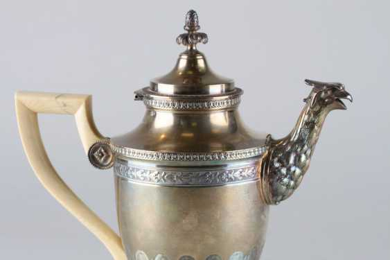 An Empire coffee pot with bone handle. - photo 2
