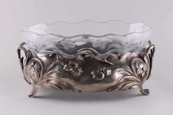 The fruit bowl in the style of modernization. Silver. - photo 1