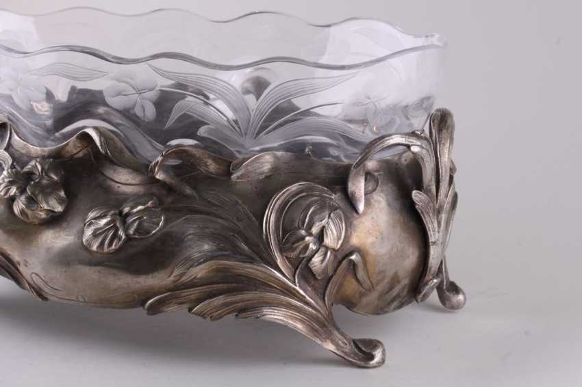 The fruit bowl in the style of modernization. Silver. - photo 2