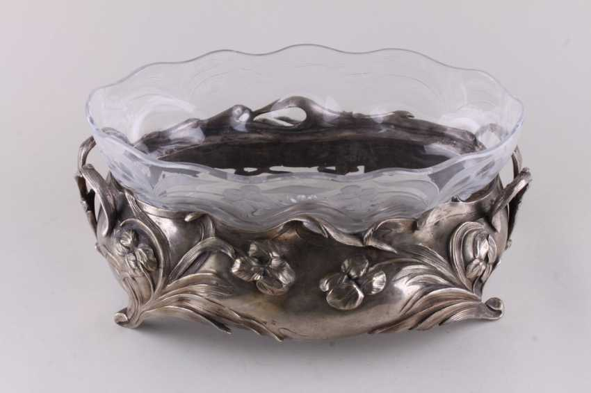 The fruit bowl in the style of modernization. Silver. - photo 4