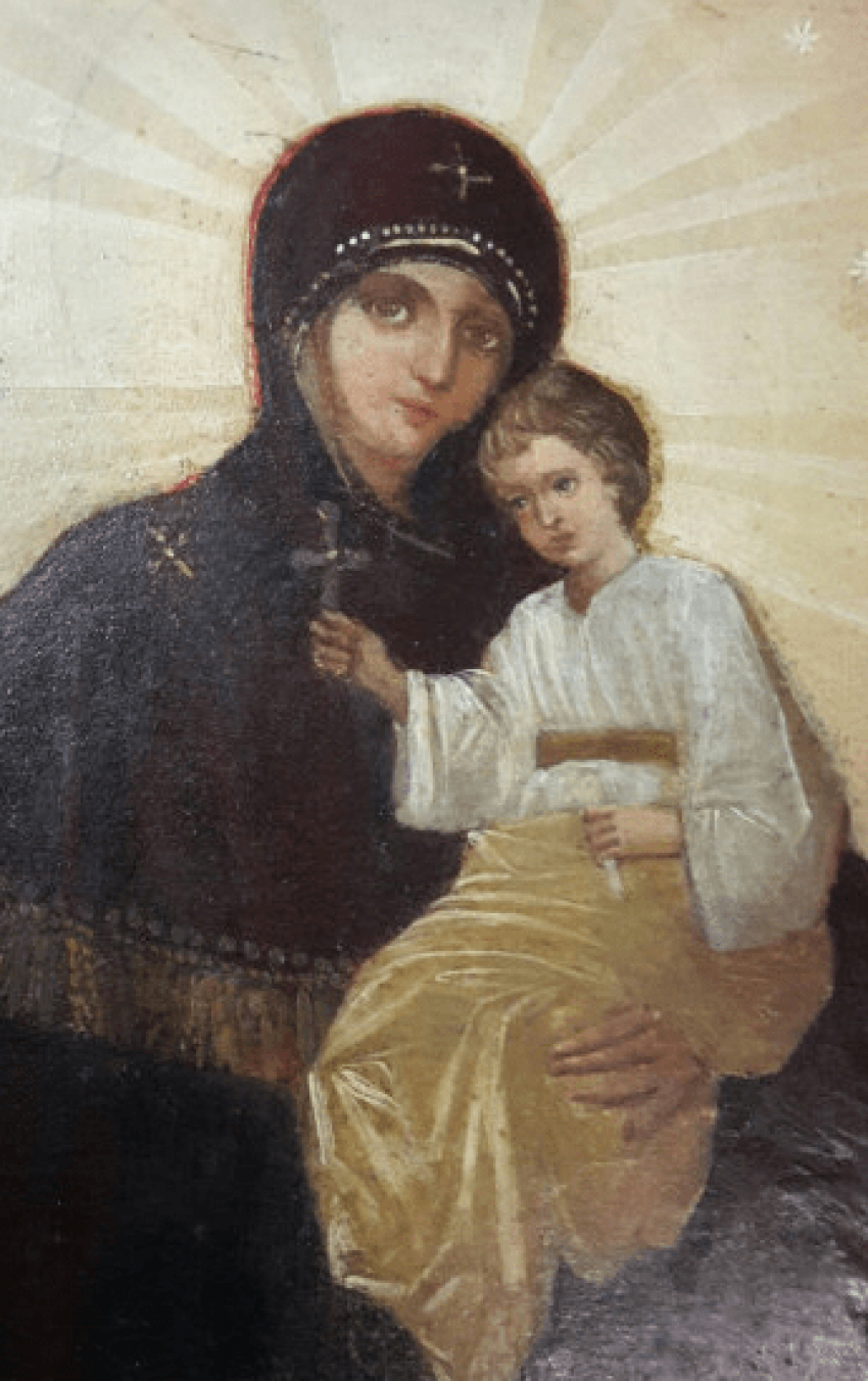 The icon of the mother of God , 19th century - photo 2
