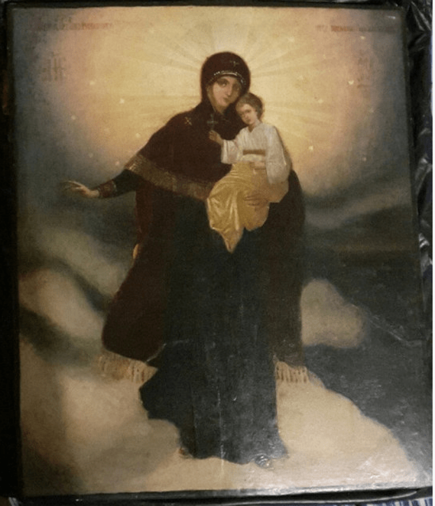 The icon of the mother of God , 19th century - photo 1