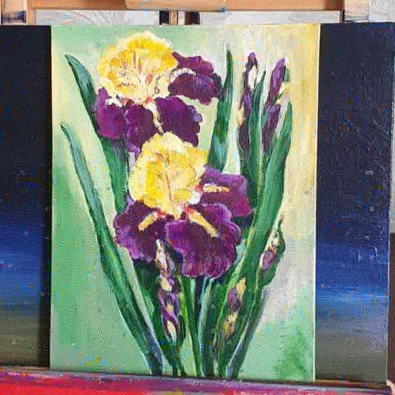 Maria Banachewicz. Irises in bloom - photo 1