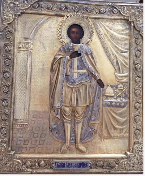 The Icon Of St. Prince Alexander Nevsky 19th century - photo 1