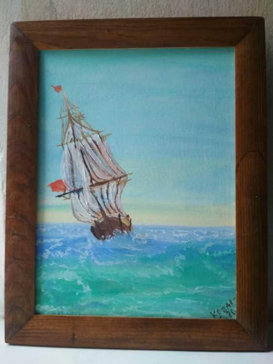 Elena Kozar-Gurina. Ship on the high seas. Ship on the high seas. - photo 1