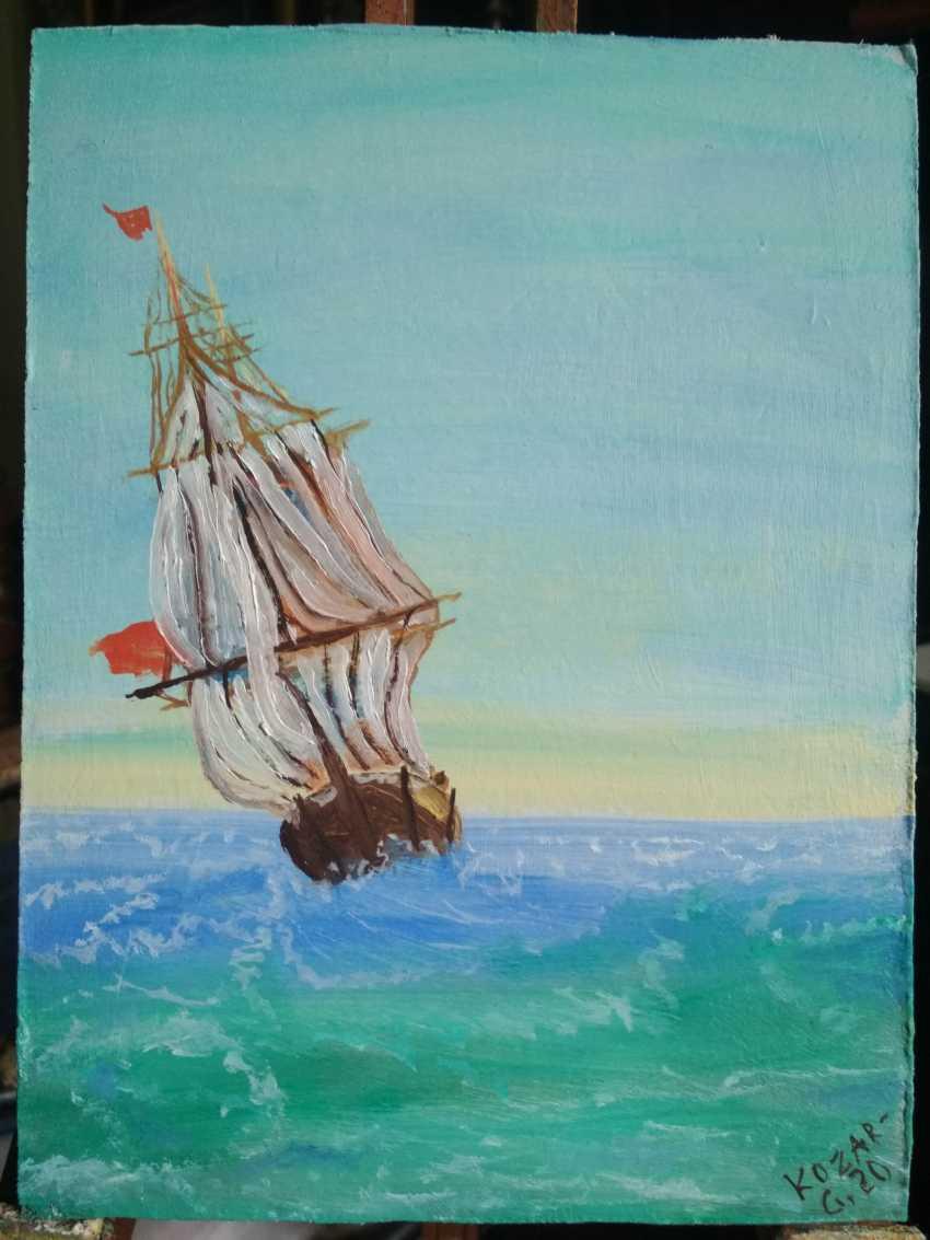 Elena Kozar-Gurina. Ship on the high seas. Ship on the high seas. - photo 2