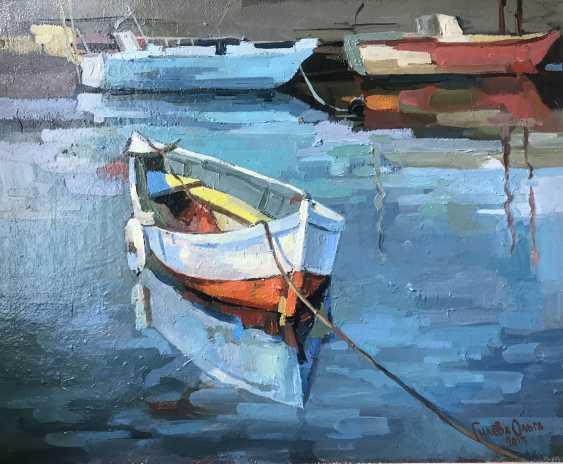 """Olga Gileva. """"Boat on the river Trubezh"""" - photo 1"""