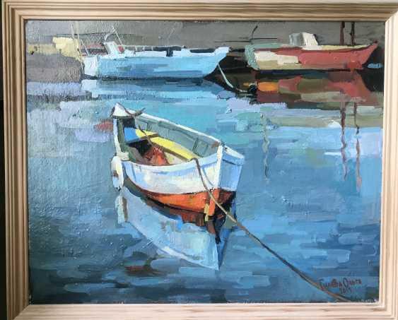 """Olga Gileva. """"Boat on the river Trubezh"""" - photo 2"""