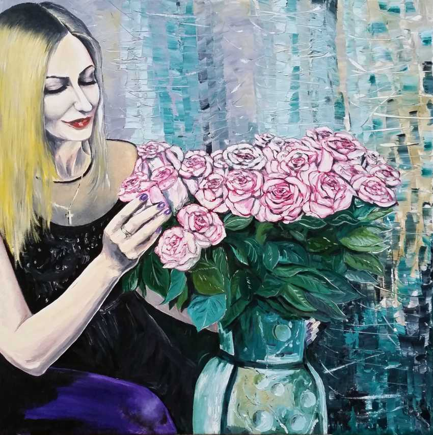 Vyacheslav IG. Woman with flowers - photo 1