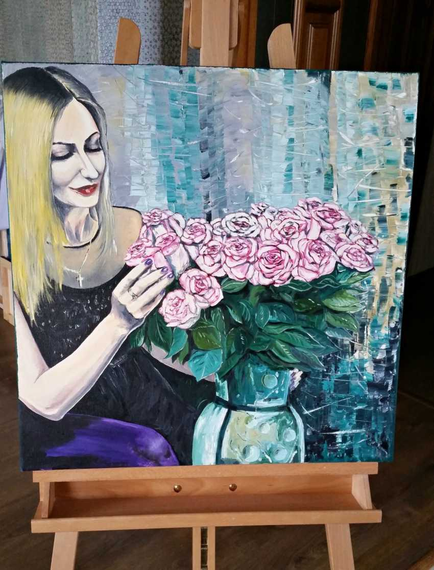 Vyacheslav IG. Woman with flowers - photo 2
