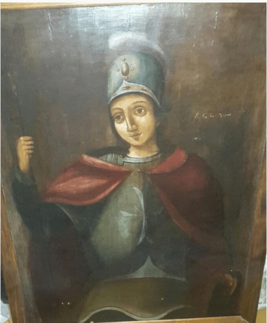 The icon St. George 19th century - photo 1