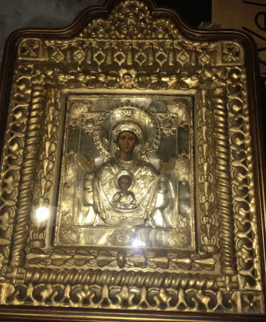 Icon virgin of Sign 19 century - photo 1