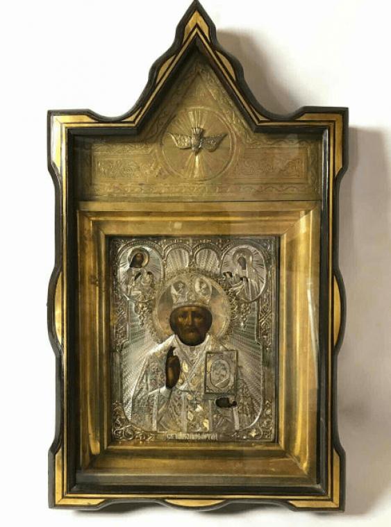 The icon Saint Nicholas 19 century - photo 1