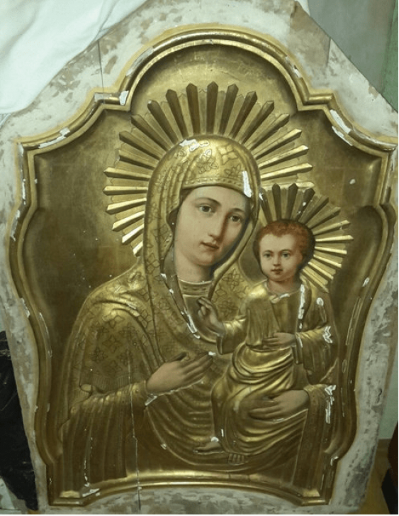 The icon of the Tikhvin mother of God 19th century - photo 1