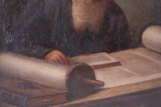 "The painting ""Rabbi with Torah"", first. floor. 20th century - photo 3"