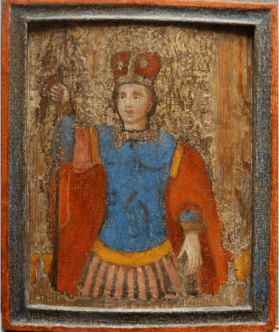 Icon Demetrius 17th century - photo 1