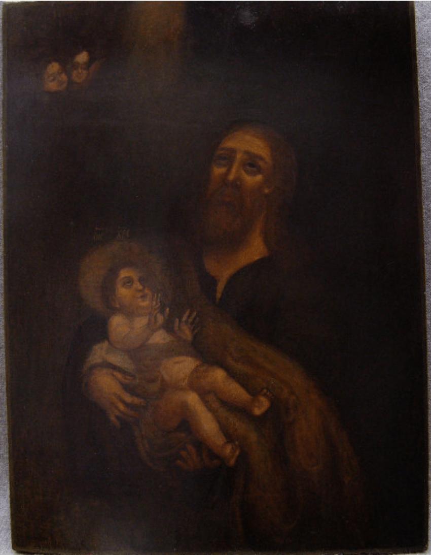 The icon Simeon Богоприимец18 century - photo 1