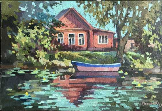 "Olga Gileva. ""Boats on the river Trubezh. Pereslavl-Zalessky"" - photo 1"