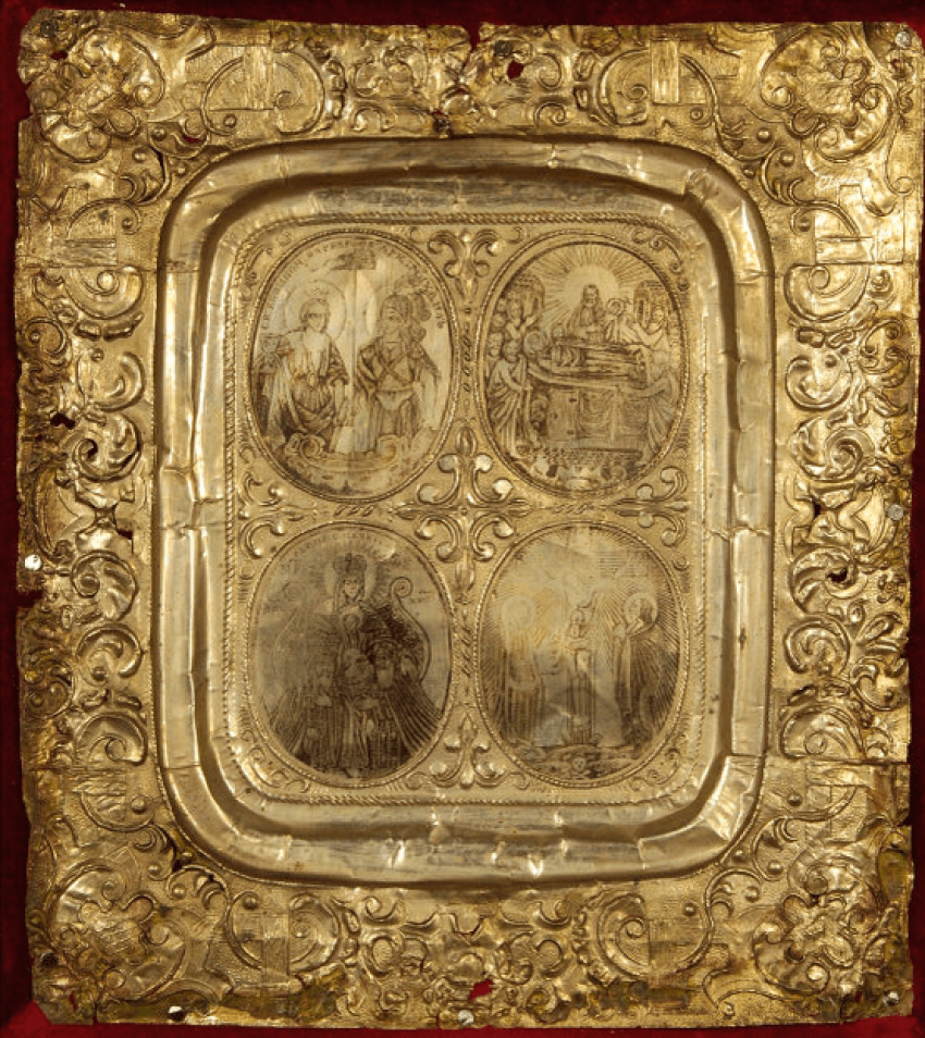 Icon chetyrehosnyj 18th century - photo 1