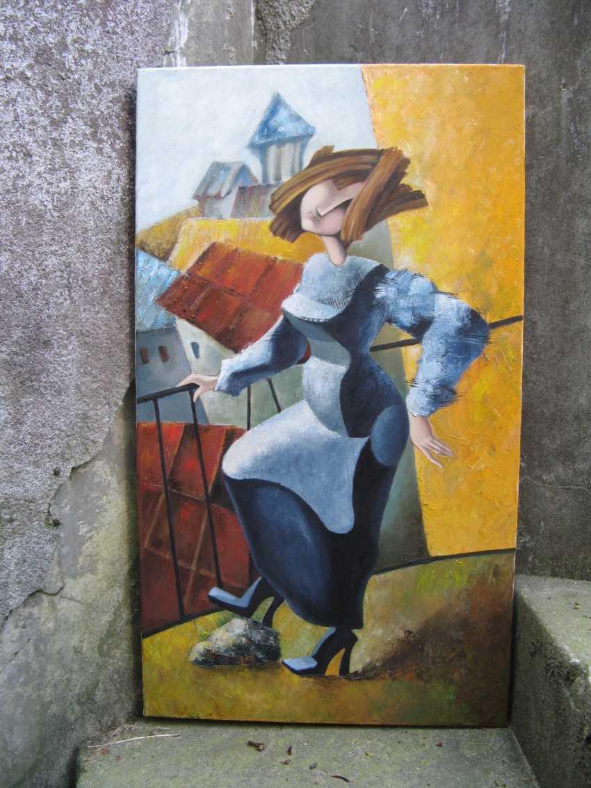 "Olga Vasilchenko. ""Ms. Luba on the balcony"" - photo 1"