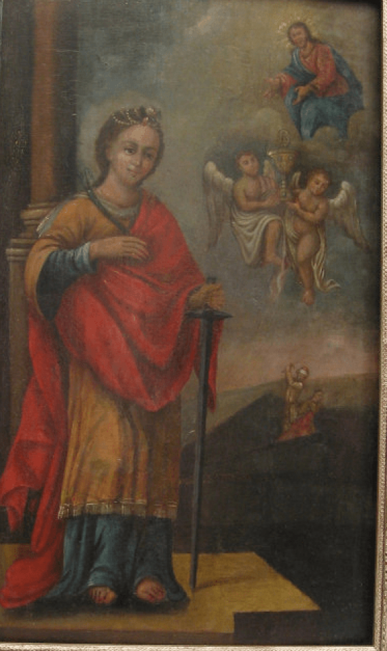 The Icon Of St. Catherine the 18th century - photo 1