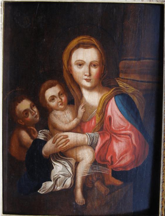 The icon of the virgin Hodegetria con. Of the 18th century. - photo 1