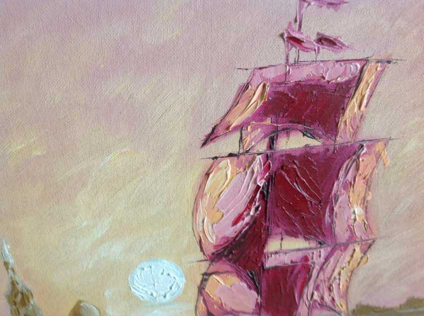 Victor Kuznetsov. Sailing boat in Pink Sunset - photo 2