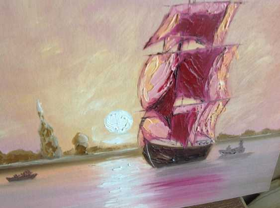 Victor Kuznetsov. Sailing boat in Pink Sunset - photo 3