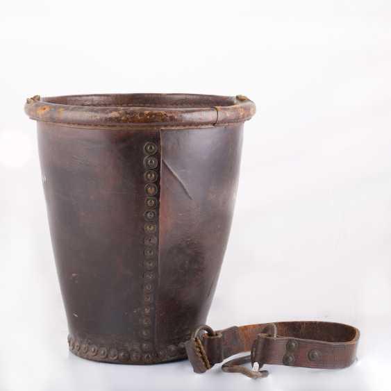 "Leather bucket for gunpowder, ""Tsar Mikhail Fedorovich Odessa №5 "". The Romanov Dynasty. - photo 2"