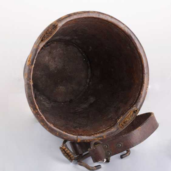 "Leather bucket for gunpowder, ""Tsar Mikhail Fedorovich Odessa №5 "". The Romanov Dynasty. - photo 4"