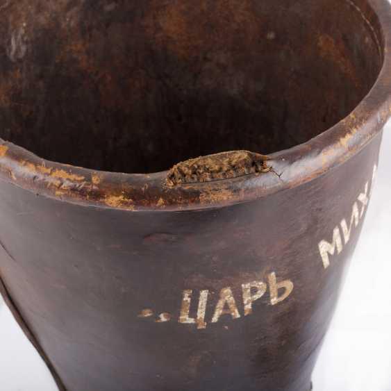 "Leather bucket for gunpowder, ""Tsar Mikhail Fedorovich Odessa №5 "". The Romanov Dynasty. - photo 5"