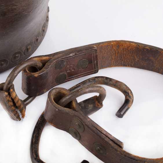 "Leather bucket for gunpowder, ""Tsar Mikhail Fedorovich Odessa №5 "". The Romanov Dynasty. - photo 6"