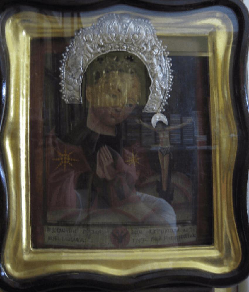 Icon of Akhtyrskaya mother of God 18th century - photo 1