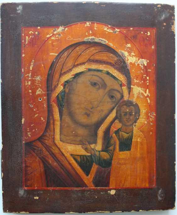 Russian icon Kazan mother of God silver 84 sample - photo 2