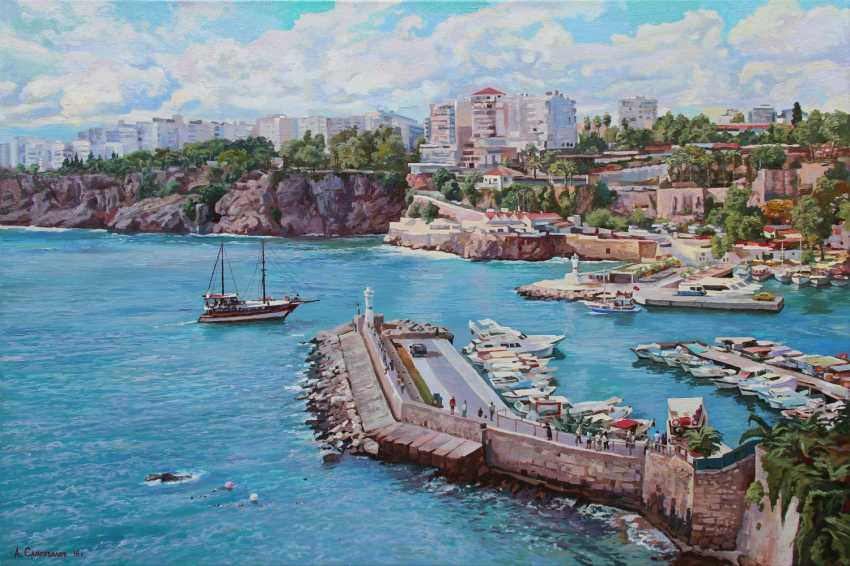 "Alexander Samokhvalov. ""The harbour of Kaleici in Antalya"" - photo 1"