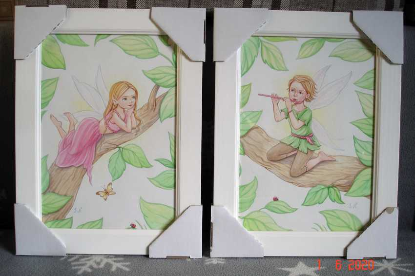 "Irina Nevshupa. Painting in the nursery ""Fairies"". Couple. - photo 1"