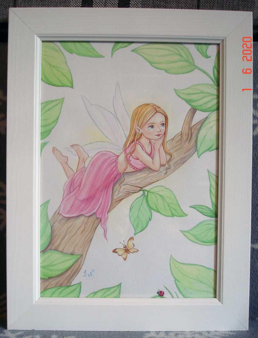 "Irina Nevshupa. Painting in the nursery ""Fairies"". Couple. - photo 2"