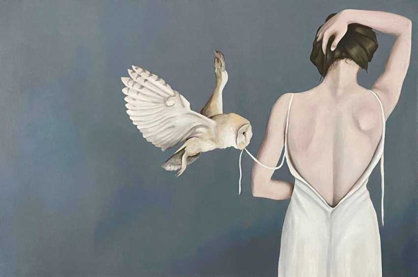 Tatjana Jansberga. The girl with the owl - photo 1